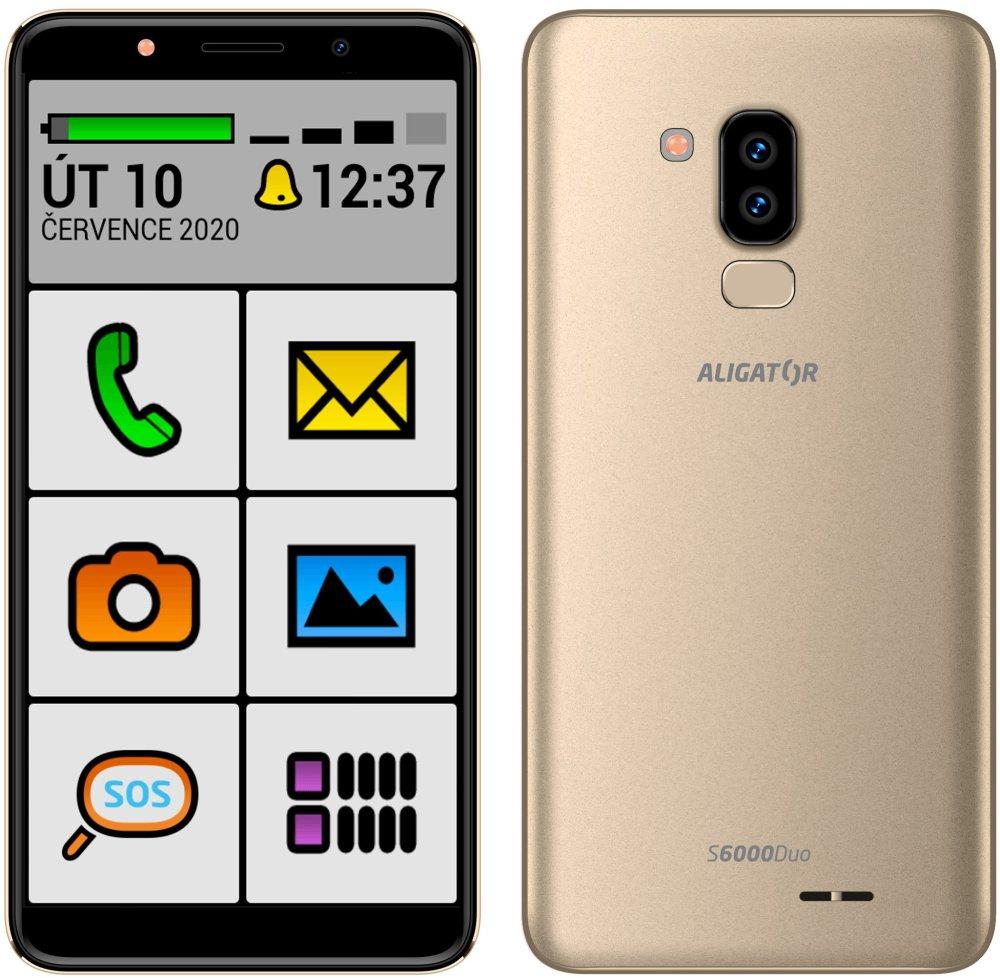 Aligator S6000 Senior, 1GB/16GB, Gold