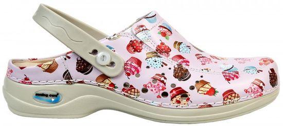 Nursing Care BERLIM pracovní kožená pratelná obuv s certifikací dámská s páskem dortíky WG4APF30 Nursing Care Velikost: 35