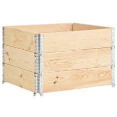 shumee Paletové nástavce 3 ks 100 x 100 cm masivní borové dřevo