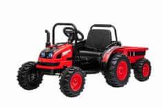 Beneo Elektrický Traktor POWER s vlečkou, Pohon zadných kolies, 12V batéria, dialkové ovládanie, MP3