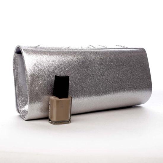 Michelle Moon Dámská společenská kabelka Delilah, stříbrná