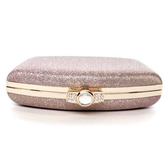 Michelle Moon Dámská společenská kabelka Jessie, růžově zlatá