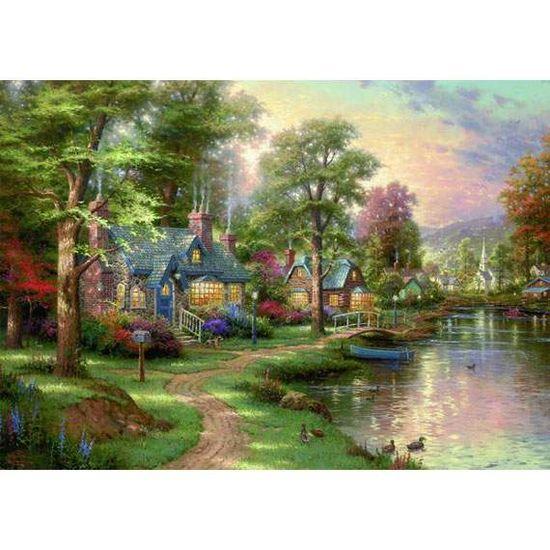 Schmidt Puzzle 1500 Dom pri jazere