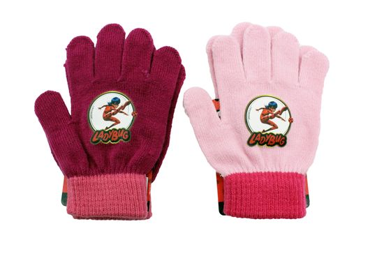 "SETINO Dekliške prstne rokavice ""Miraculous"" - roza - 12x16cm"