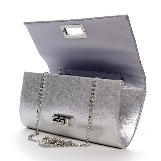 Michelle Moon Elegantní třpytivé dámské psaníčko Sierra, stříbrné