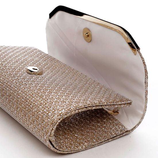 Michelle Moon Společenská třpytivá kabelka Kora, růžově zlatá