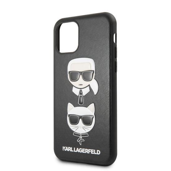 Karl Lagerfeld KLHCN58KICKC Karl Lagerfeld &Choupette Kryt pro iPhone 11 Pro Black 3700740463253