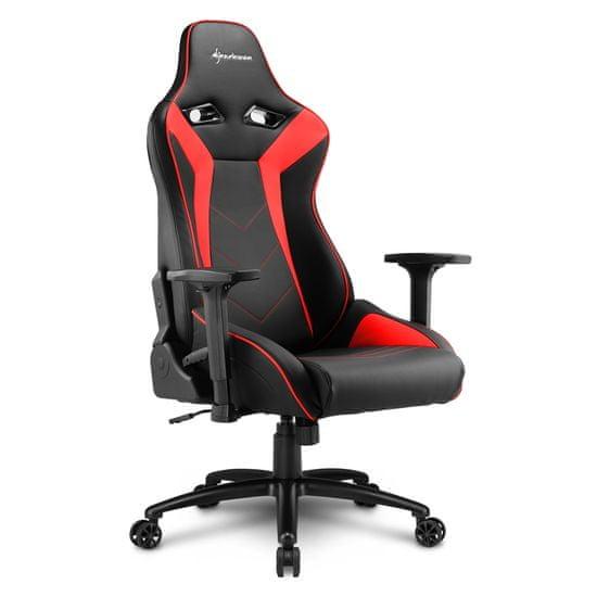 Sharkoon Elbrus 3 gamerski stol, črno-rdeč