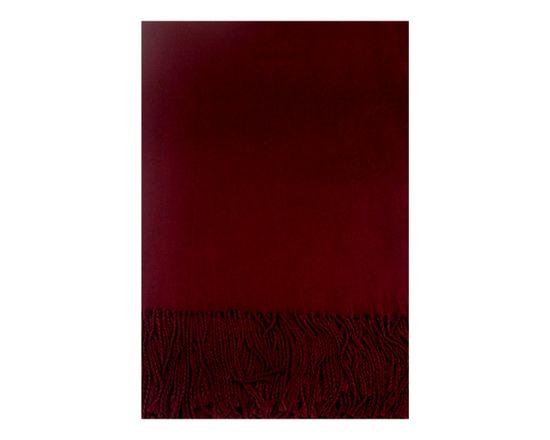 ORSI Zimní šála Virgin Wool 60x200 vínová