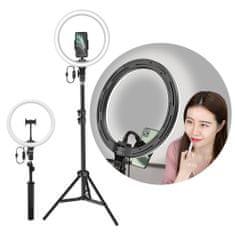 """BASEUS Photo Ring Selfie krožka LED svetloba 12"""" + visoki stativ, črna"""