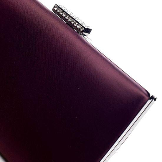 Michelle Moon Elegantní hladké dámské psaníčko Madelyn, fialové
