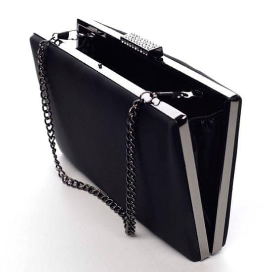 Michelle Moon Elegantní hladké dámské psaníčko Madelyn, černé