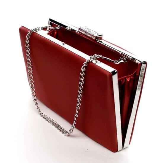 Michelle Moon Elegantní hladké dámské psaníčko Madelyn, červené
