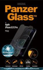 PanzerGlass Privacy zaščitno steklo za iPhone 12/12Pro, kaljeno, prozorno