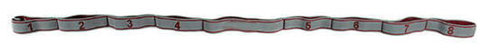 TOORX Light traka s kopčama od tekstila, elastična, siva