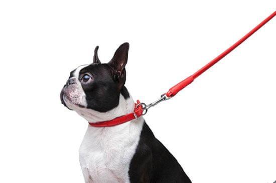 Wau Dog Okrúhle kožené vodítko červenej farby 183cm