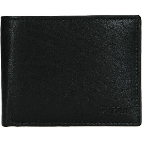 Lagen Mężczyźni portfel skórzany czarny W 8053