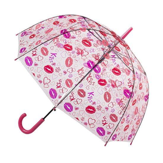 Blooming Brollies Holovaty Ladies Transparent Wyczyść Dome Parasol kijem Lips projekt POESLIP