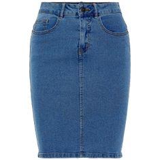 Vero Moda Női farmerszoknyaHot Nine Hw Dnm Pencil Skirt Mix Noos Medium Blue Denim (méret S)