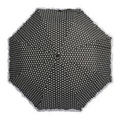 Blooming Brollies Damski parasolka Polka z falbankami i błyskami Black BCFPOL BL