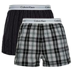 Calvin Klein 2 PACK - férfi alsónadrág NB1396A-JKZ Ryan Stripe Deep Well/Hickory Plaid Black (méret M)