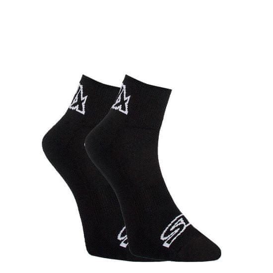 Styx Ponožky kotníkové černé s bílým logem (HK960)