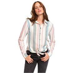 ROXY Dámska košeľa Suburb Vibes Stripe Snow White Retro Vertical ERJWT03343-WBK3 (Veľkosť XS)
