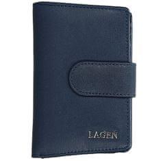 Lagen Ženska usnjena denarnica 50313 D.Blue