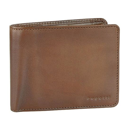 BUGATTI Męski portfel skórzany Domus RFID 49322907 Koniak