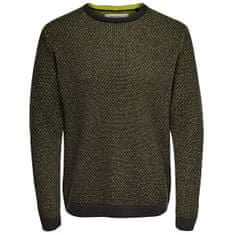 ONLY&SONS Moški pulover ONSCALL KNIT STRUCTURE SL 4210 Phantom (Velikost S)