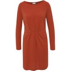 VILA Ženska obleka VICLASSY L / S PODROBNA OBLEKA - FAV Kečap (Velikost XS)