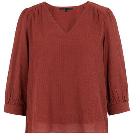 Vero Moda Ženska bluza VMARWEN 3/4 TOP WVN Madder Brown