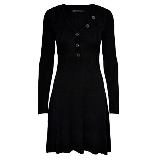 ONLY Ženska obleka ONLIZA L / S DRESS KNT Black