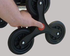 Rolser Nakupovalni voziček s 6 kolesi I-Max MF Logic Rd6, temno siv
