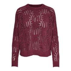 ONLY Ženski pulover ONLELVA L / S PULLOVER KNT Tawny Port (Velikost XS)