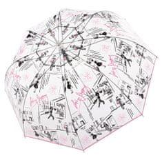 Doppler Damski parasolka do strzelania Fiber Long Automatic przezroczysta Tropez 7405427S