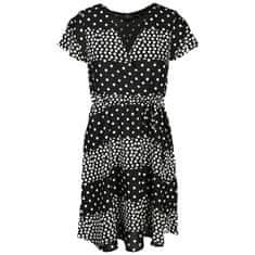 Smashed Lemon Ženska obleka 20037 Black - White (Velikost L)