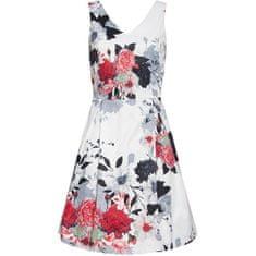 Smashed Lemon Ženska obleka 20232 Black - White / rdeča (Velikost L)