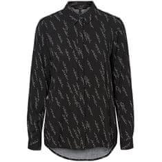 Vero Moda Ženska majica VMGUNHILD LS SHIRT WVN GA Black AOP.GUNHILD (Velikost XS)
