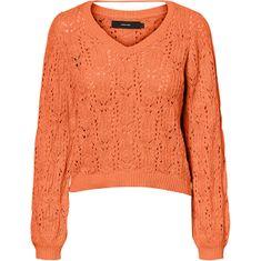 Vero Moda Ženski pulover VMDEYRA LS V-NECK BLOUSE Coral Rose (Velikost L)