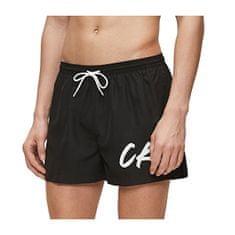 Calvin Klein Moške kratke kratke kratke Short Drawstring vrvice KM0KM00442-BEH Pvh Black (Velikost L)
