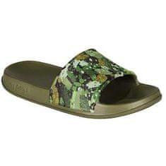 Coqui Dětské pantofle Tora Army Green Camo 7083-203-2600 (Velikost 26-27)