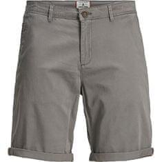 Jack&Jones Moške kratke hlače JJIBOWIE JJSHORTS SOLID SA STS Charcoal Gray (Velikost S)