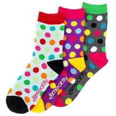 MEATFLY Zokni szett Light Regular Dots socks S19 Multipack (méret 36-39)