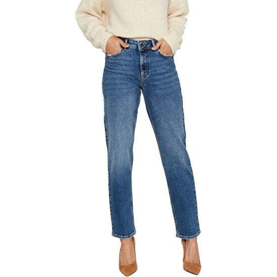Vero Moda Ženske sproščene kavbojke naravnega kroja VMSARA 10217406 Srednje Blue Denim