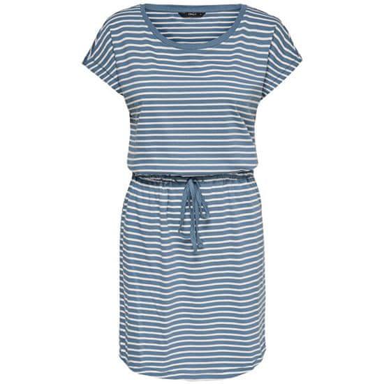 ONLY Ženska obleka ONLMAY 15153021 Blue Mirage THIN STRIPE CLOUD DANCE R