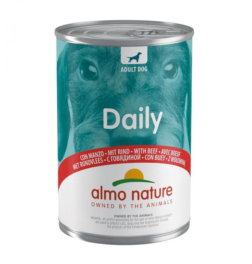 Almo Nature Daily Menu WET DOG s hovězím 24x400 g