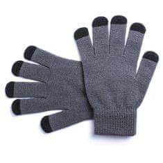rokavice za zaslone na dotik, sive, uni