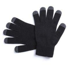 rokavice za zaslone na dotik, črne, uni