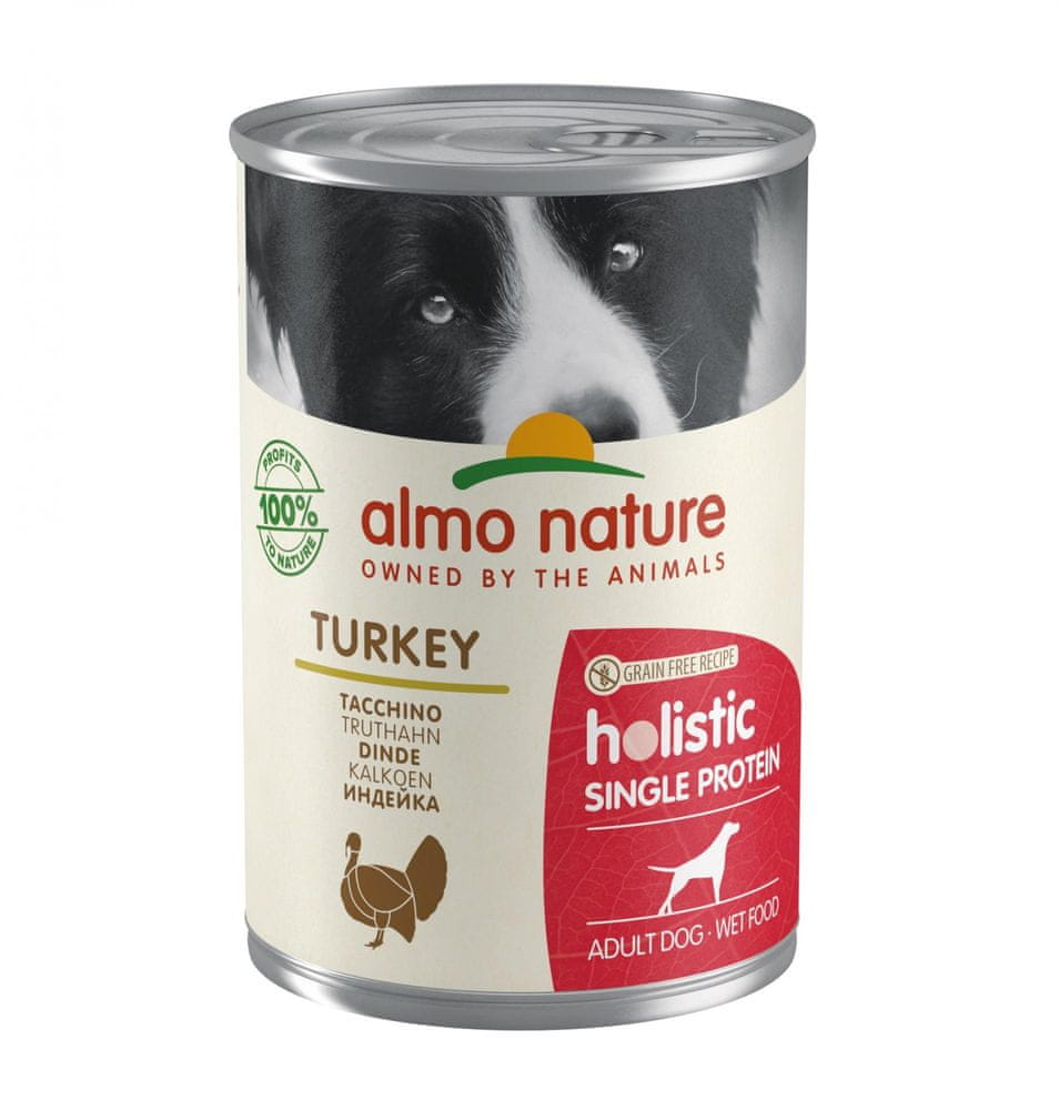 Almo Nature 100% single protein krůtí 24x400 g